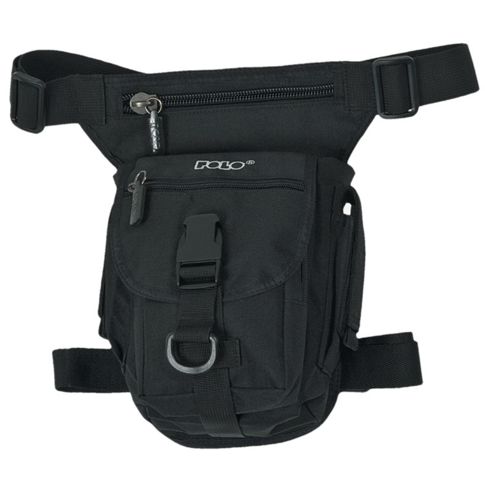 9f023c2a95 Τσαντάκι ποδιού μαύρο Waist bag 9-08-091-02 Polo - ΤΣΑΝΤΕΣ ΜΕΣΗΣ ...