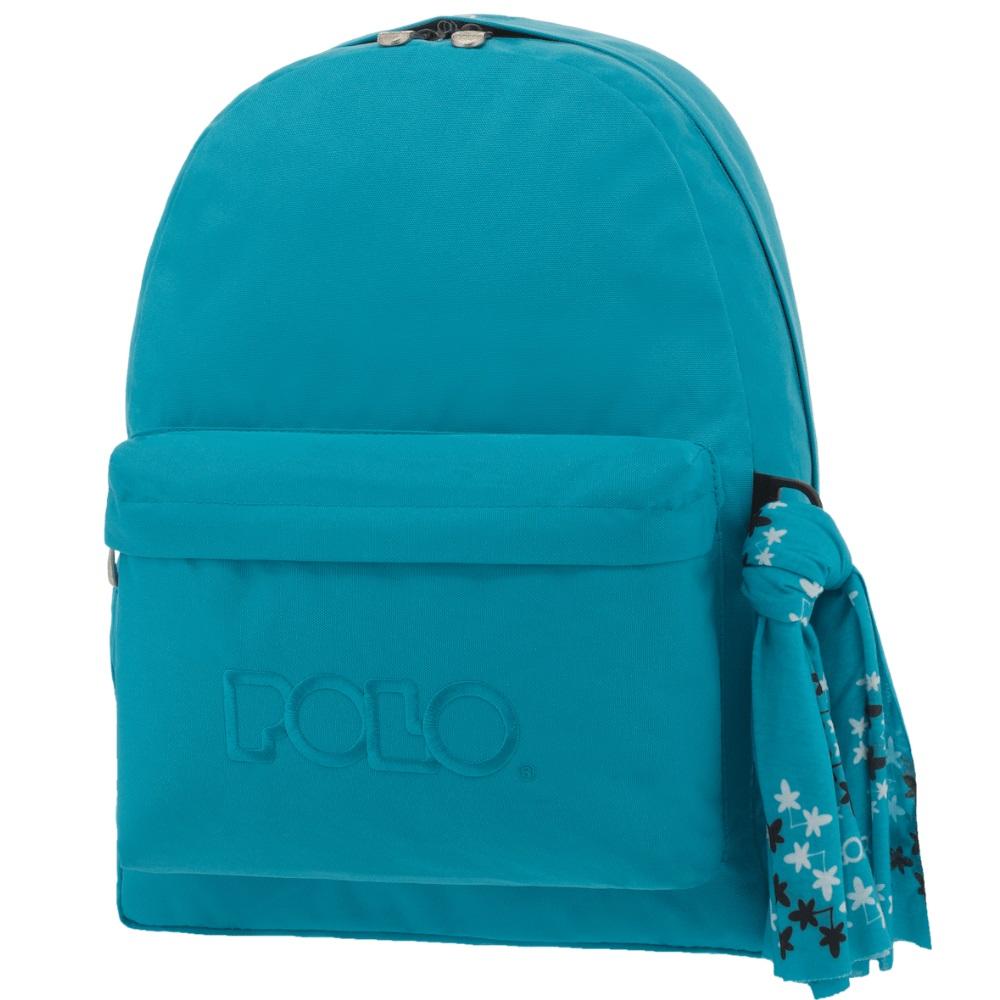 3d3125a207 Τσάντα σακίδιο με μαντήλι τιρκουάζ 9-01-135-20 Polo - 5201927082444