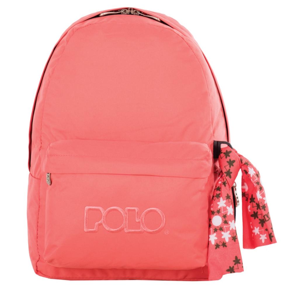 27450e18fa Τσάντα σακίδιο με μαντήλι πορτοκαλί 9-01-135-43 Polo - 5201927089160