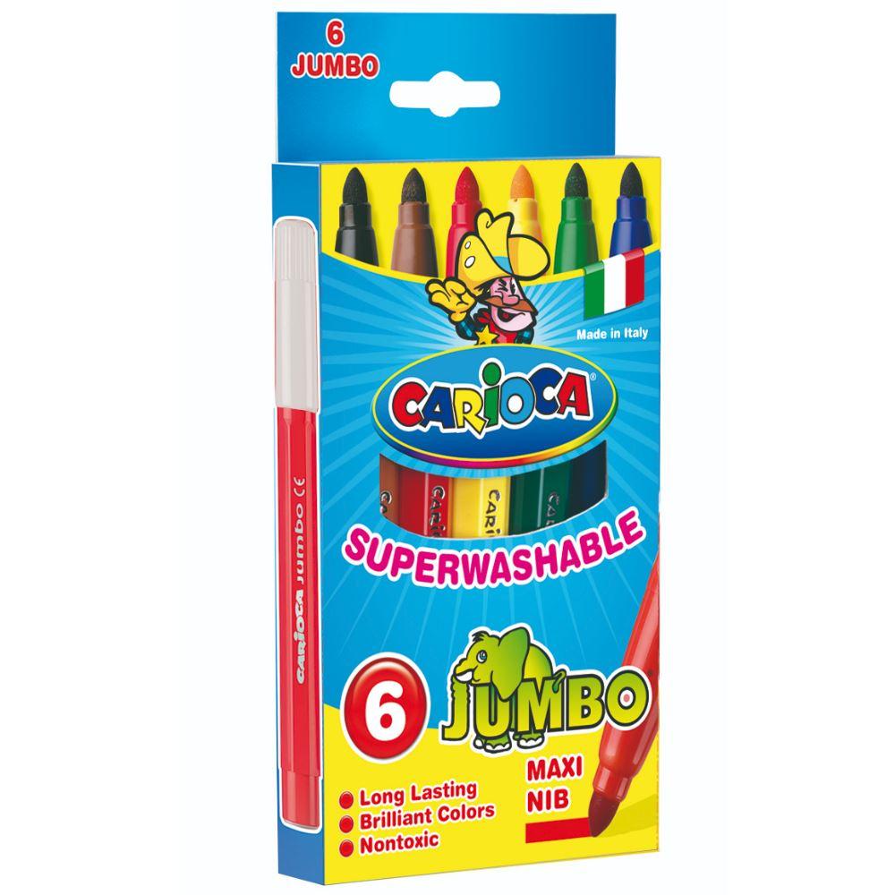 694bffcfb1 Μαρκαδόροι Jumbo superwashable 6τεμ. Carioca - ΜΑΡΚΑΔΟΡΟΙ ΖΩΓΡΑΦΙΚΗΣ ...